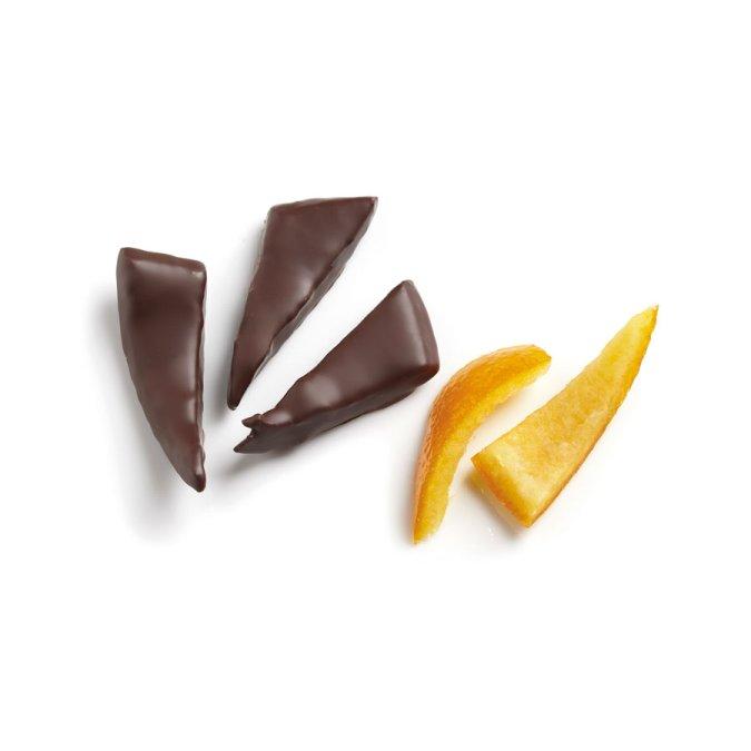 Arancia candita ricoperta di cioccolato