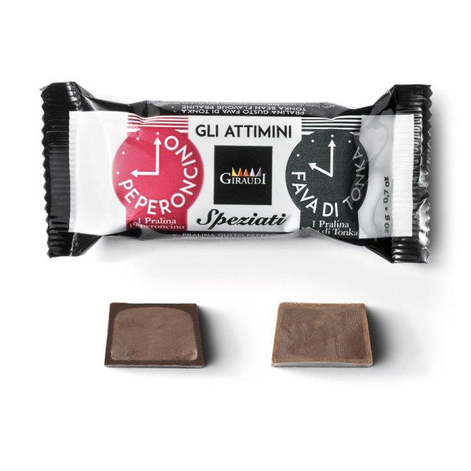 Snack al cioccolato Attimini al peperoncino di Giraudi