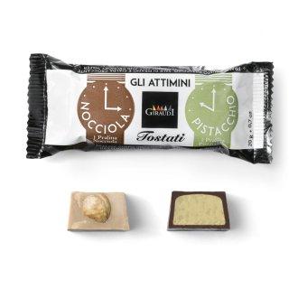 Snack al cioccolato Attimini al pistacchio di Giraudi