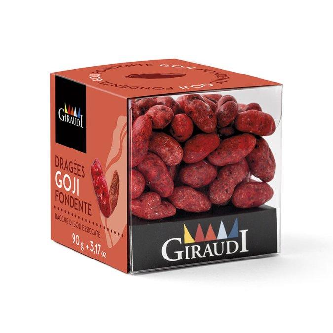 Box bacche di Goji ricoperte di cioccolato fondente Giraudi