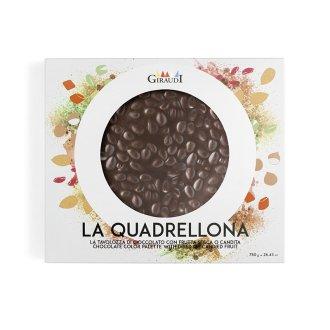 Confezione Quadrellona fondente e mandorle Giraudi