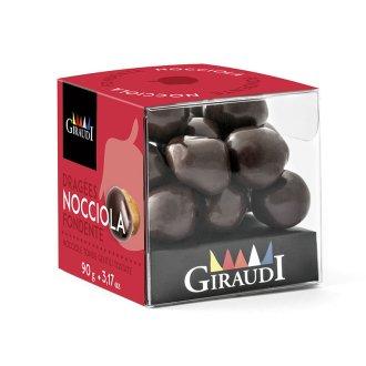 Box nocciola ricoperta di cioccolato fondente Giraudi