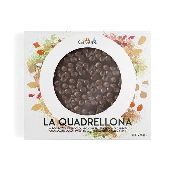 Confezione Quadrellona fondente e nocciole Giraudi