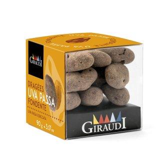 Box uva passa ricoperta di cioccolato fondente Giraudi