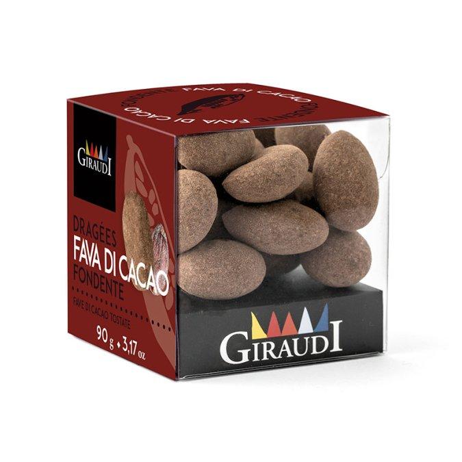 Box fava di cacao ricoperta di cioccolato fondente Giraudi