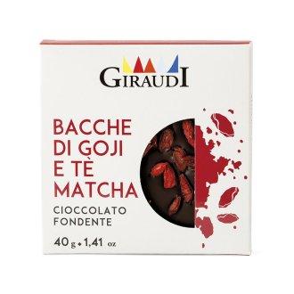 Confezione Inclusioni fondente bacche di Goji e the matcha Giraudi