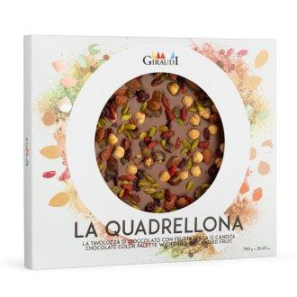 Confezione Quadrellona latte e frutta secca candita Giraudi