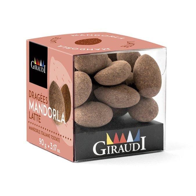 Box mandorla ricoperta di cioccolato al latte Giraudi