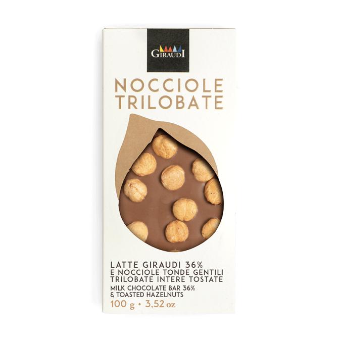 Tavoletta cioccolato al latte e nocciole gentili Giraudi