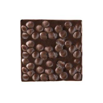 Quadrella cioccolato fondente e nocciole dettaglio