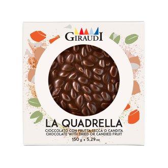 Quadrella cioccolato fondente e pistacchio
