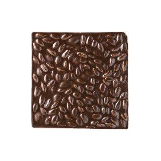Quadrella cioccolato fondente e pistacchi dettaglio