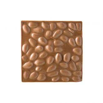 Quadrella cioccolato al latte e mandorle dettaglio