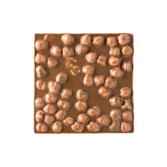 Quadrella cioccolato al latte e nocciole dettaglio