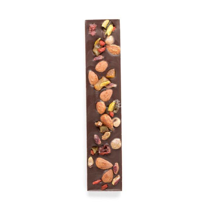 Stecca cioccolato fondente e frutta secca
