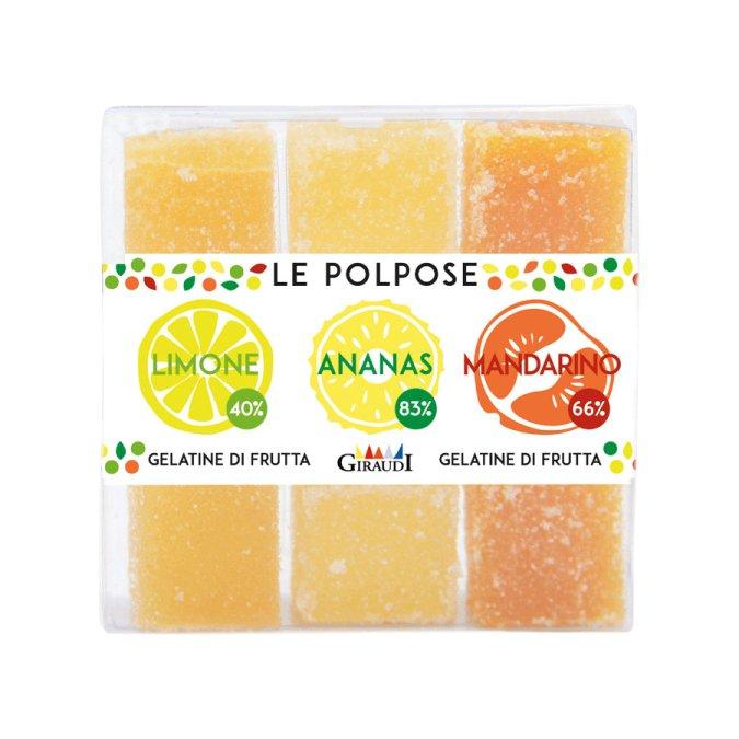 Gelatine al limone, ananas, mandarino Giraudi