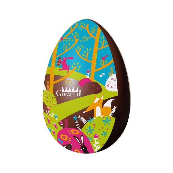 Uovo di Pasqua fondente serigrafato Giraudi