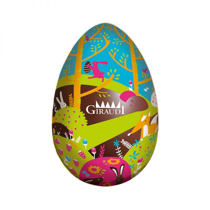 Uovo di Pasqua fondente serigrafato Giraudi fronte
