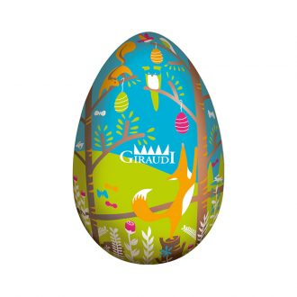 Uovo di Pasqua al latte serigrafato Giraudi fronte