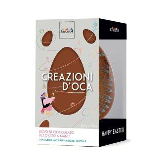 CREAZIONI D'OCA Uovo cioccolato Biondo decorato giraudi BOX