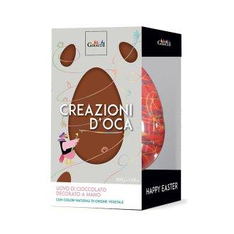 CREAZIONI D'OCA Uovo cioccolato fondente decorato giraudi BOX