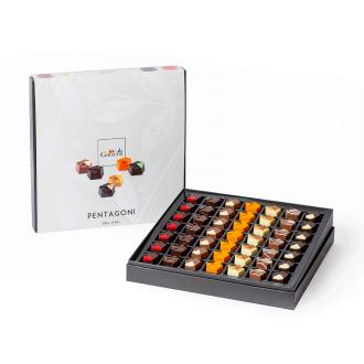 pentagoni giraudi scatola 49 cioccolatini