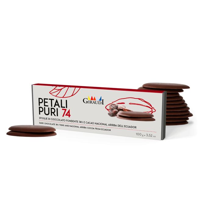 Giraudi petali puri 74% cacao nacional Ecuador